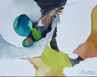 """Feather Song Series """" The Three Amigos"""" one of a kind original watercolor."""