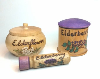 Elderberry Elderflower Herbalist Pretend Play Set // Made to Order // Natural Wooden Toy // Play Apothecary // Waldorf Dramatic Play Toy