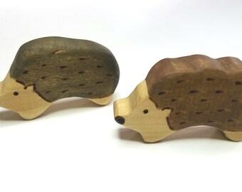 Wooden Hedgehog, Woodland Gift, Hedgehog Shower Gift, Playroom Decor, Woodland or Forest Themed Room,  Waldorf Wooden Hedgehog