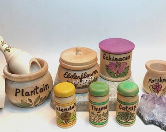 Summer Bounty Original Apothecary Play Set 2 // Natural Health Healing Kit // Play Herbalist // Essential Oil // Waldorf Natural Health Toy