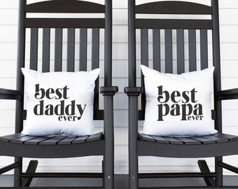 Best Dad Ever Pillow, Best Papa Ever Pillow, Father's Day, Fathers Day Gift Idea, Gift for Him, Throw Cushion, Decoration Pillow, Dad Gift