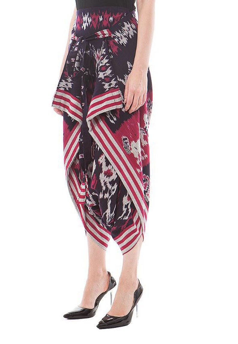 100/% Cotton Ethnic Indonesia Women Unik Tenun Ikat Capri Pant