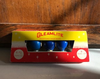 Vintage Gleamlite Christmas Light Bulbs
