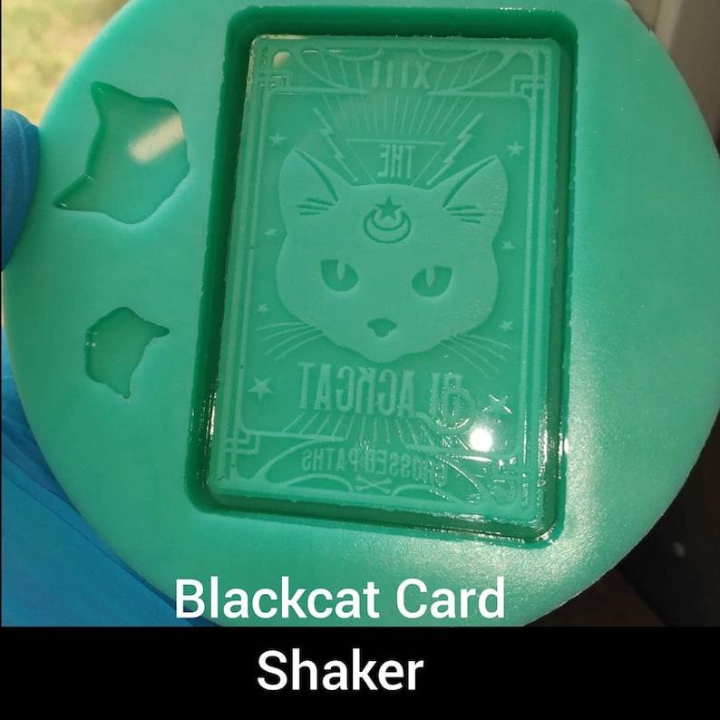 Black Cat Tarot Shaker Silicone Mold