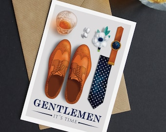 Gentleman Be My Usher / Best Man wedding card