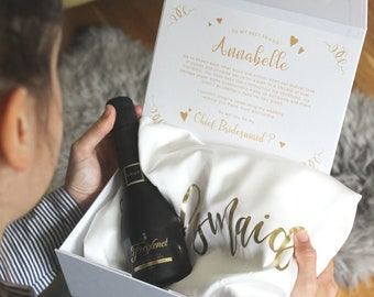 Personalised Bridesmaid Proposal Gift Box, wedding gift set