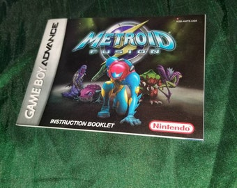 metroid fusion etsy rh etsy com Super Metroid metroid prime trilogy instruction manual