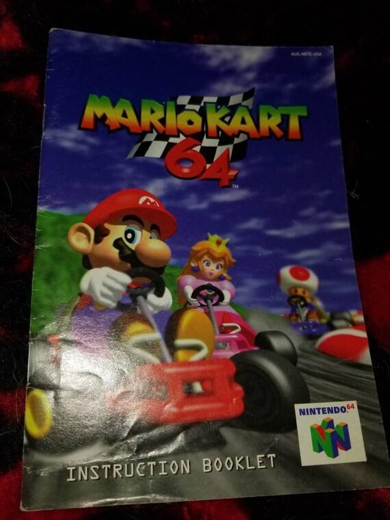 Mario Kart 64 Instruction Booklet N64 Manual