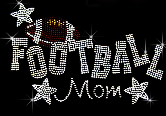 Baseball Letters Rhinestone Iron on Transfer Hot Fix Bling School Sport