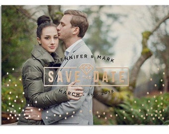 Save the Dates Foil Press Confetti