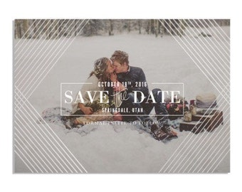 Save the Dates Foil Press Geometric