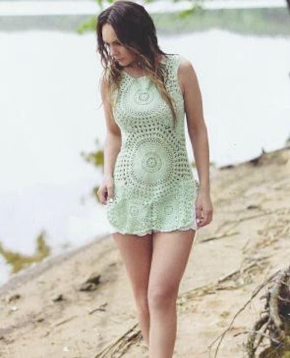 vestido ganchillo vestido playa vestido túnica ganchillo | Etsy