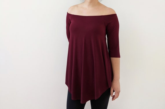 Off The Shoulder Flowy Tunic