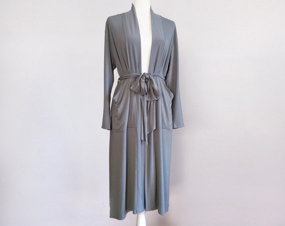 Jersey Robe with Pockets / Duster Cardigan