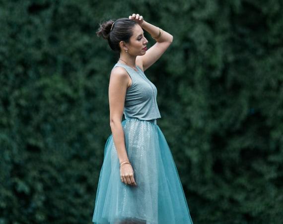 Silver Gray Tessa Tutu Skirt