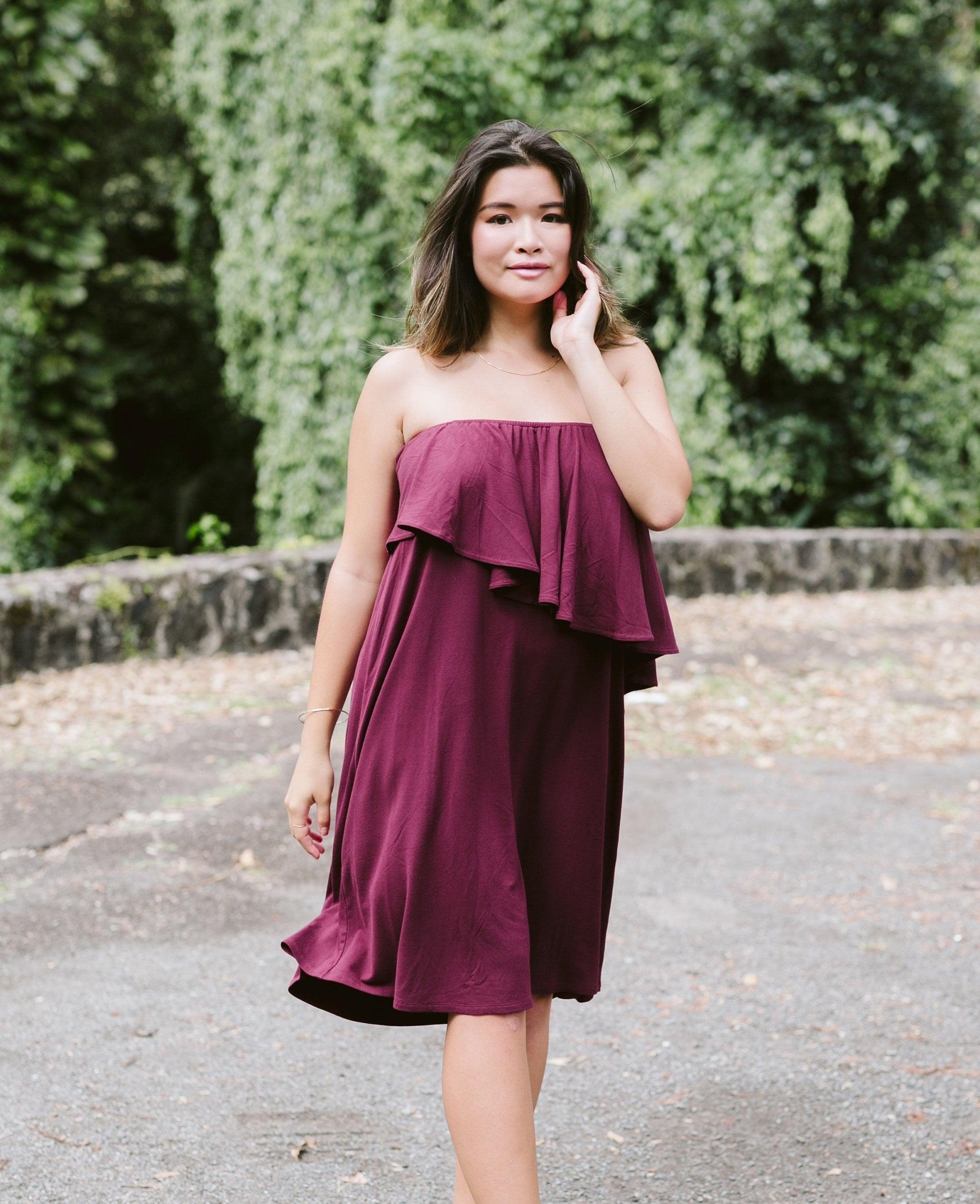 2c79a4cc968 Jersey Asymmetry Off The Shoulder Short Dress / More Colors!