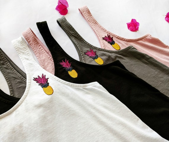 Pineapple Patch Crop Tank / Organic Cotton / More Colors!