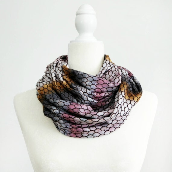 Infinity Scarf / Salmon Skin Exclusive Print