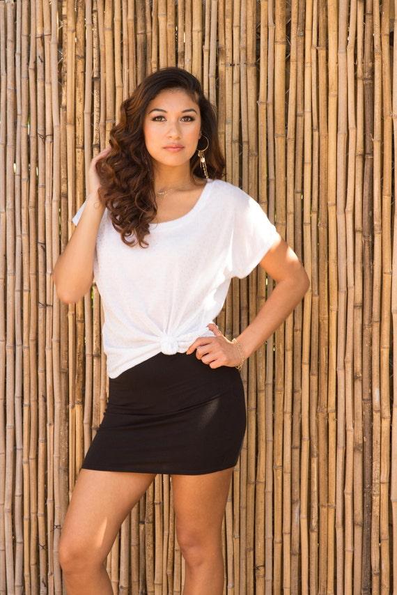 Missy High Waist Mini Skirt / Black