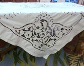 Vintage Richelieu Cutwork 74 quot Tablecloth Embroidered