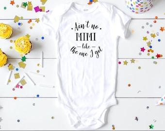 Mimi Baby Girl Clothes Mimi Baby Boy Clothes Pass Me to Mimi Onesie Organic Baby Clothes Mimi Onesie
