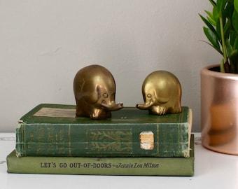 Brass Elephant Pair