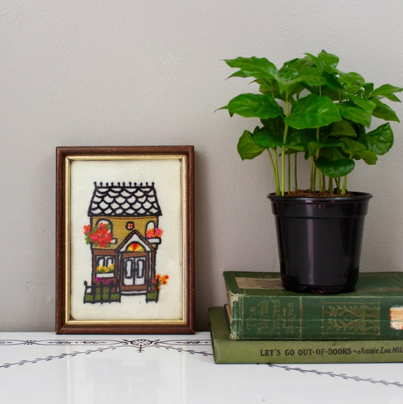 Tiny Embroidered House