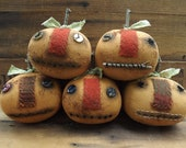 Primitive Pumpkin, Halloween Pumpkin Head
