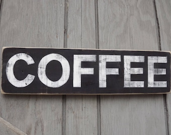 Pallet Wood Coffee Sign, Reclaimed Wood Sign, Hand Painted Sign, Coffee Lover Gift, Gift For Mom