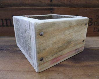 Rustic Style Box, Pallet Wood Box, Farmhouse Style Box, Primitive Wood Box