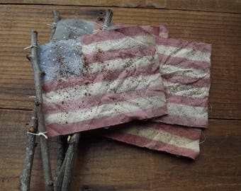 United States Flag, American Flag, Americana Decor, US Flag, 4th Of July, Patriotic Decor, Hand Painted Flag, Primitive Decor, Flag Poke