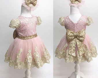 60bea0f0308 Pink and gold dress