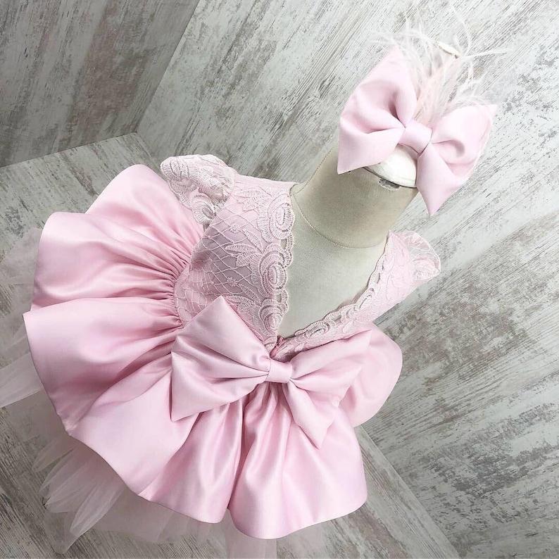 Pageant Dress Pink Poofy Tutu Dress