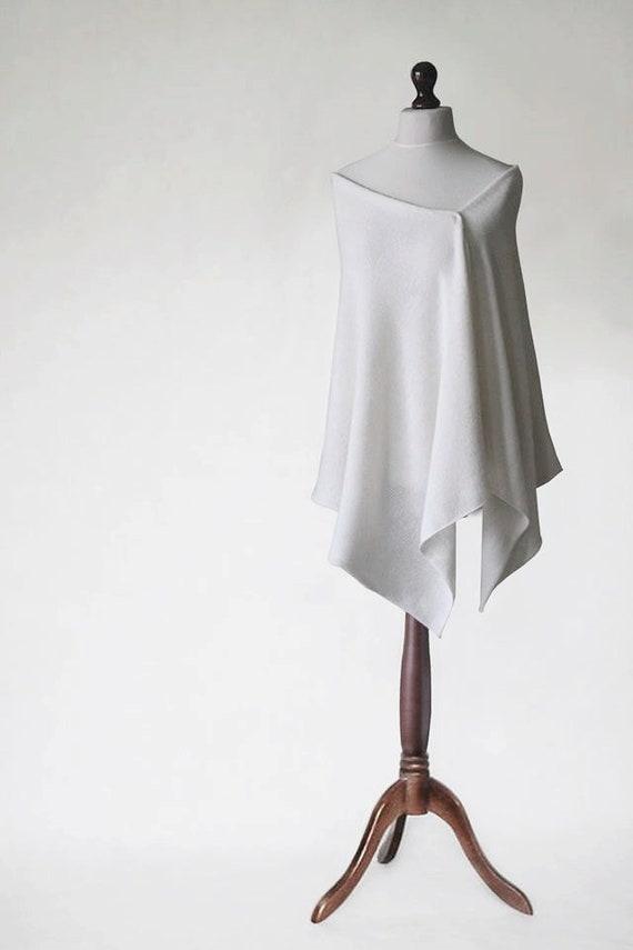 a493c750110d Châle de mariage foulard de mariage châle blanc tricot   Etsy
