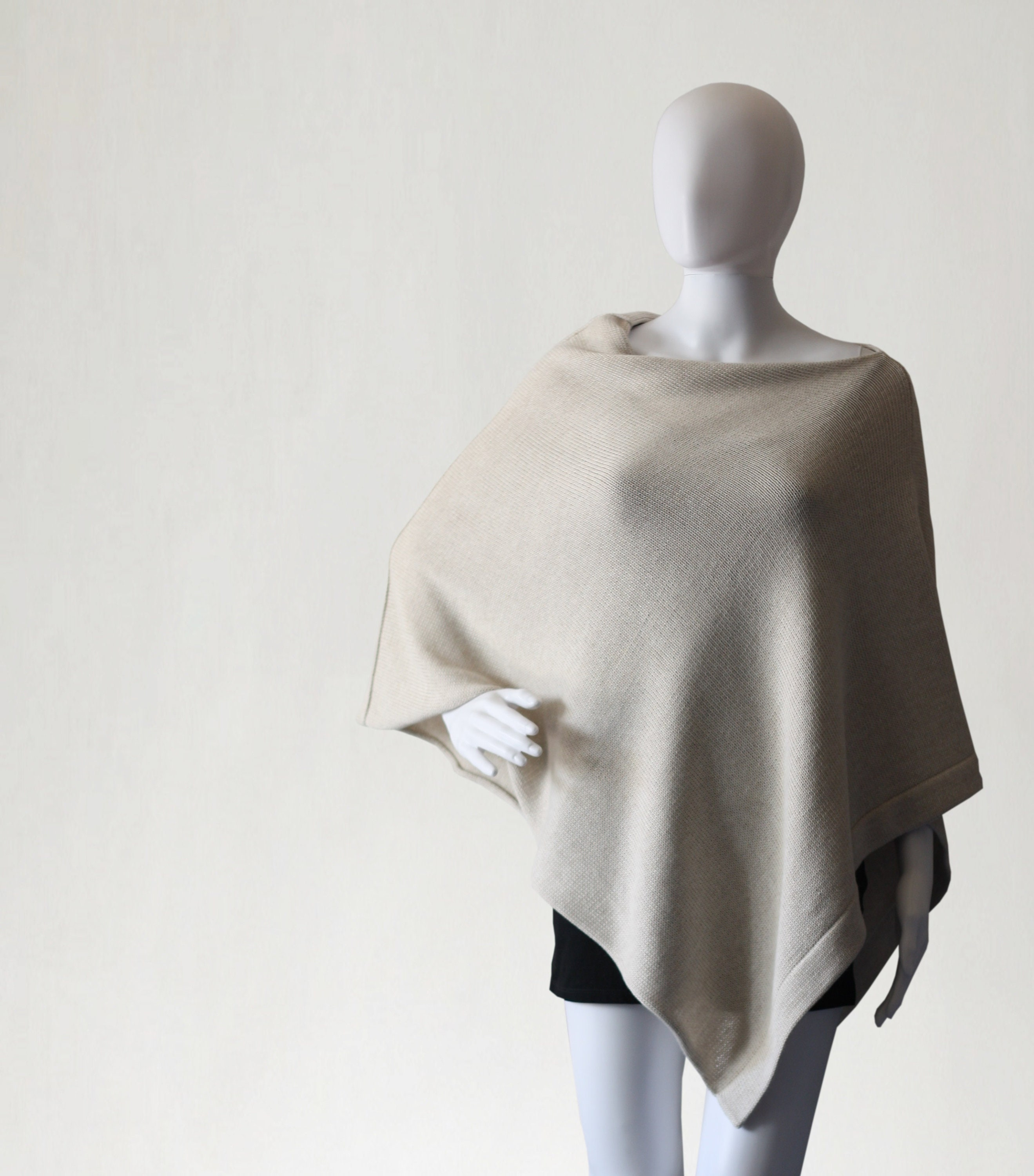 Vintage Scarf Styles -1920s to 1960s Wrap For Womens, Womens Wool Poncho, Cape, Sweater, Knit Scarf, Shawl $95.61 AT vintagedancer.com