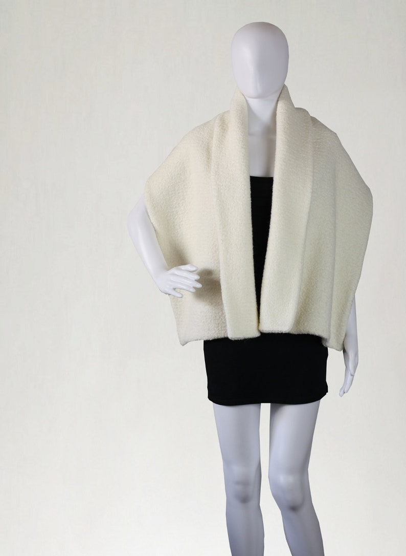 Bridal cover up Bridal Cape elegant scarf wedding stole image 0
