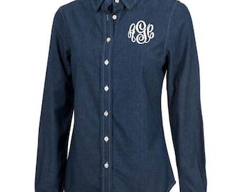 Chambray Button Up Women's Shirt