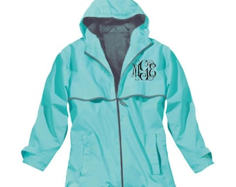 Monogrammed Rain Jacket/Women's Rain Coat/Monogram