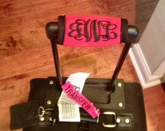 Monogrammed Luggage Handle Grip