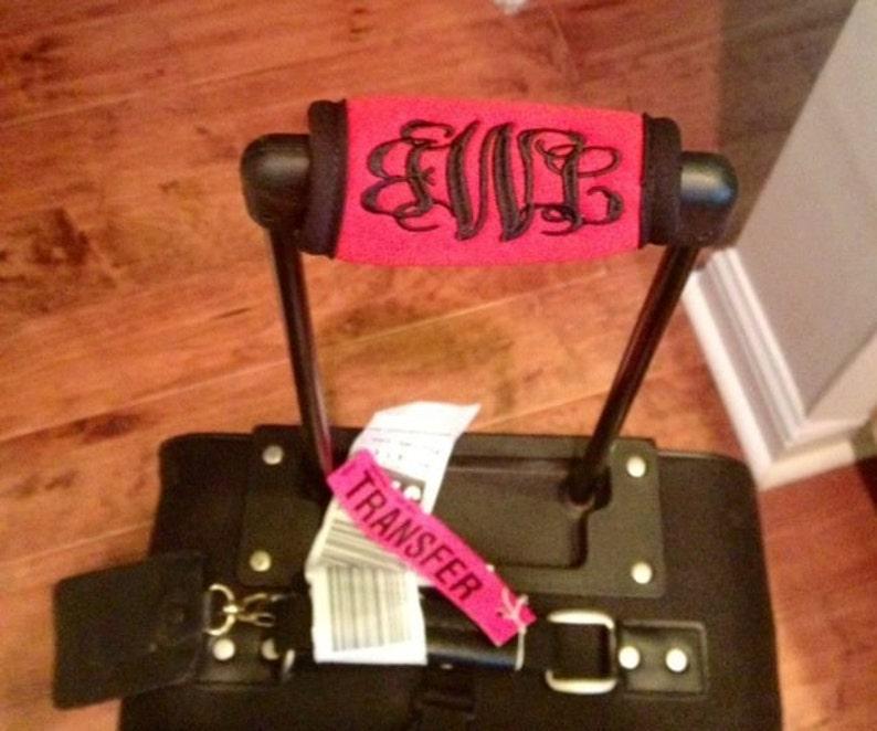 Monogrammed Luggage Handle Grip image 0