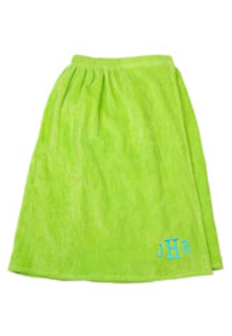 Lime Green Monogrammed Bath Wrap image 0