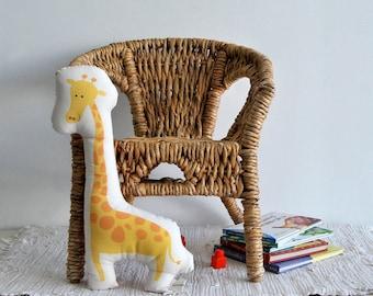 stuffed animal, Giraffe cotton stuffed toy, yellow pillow, Deco pillow, Children pillow, kids toy, baby room stuffed toy, nursery room