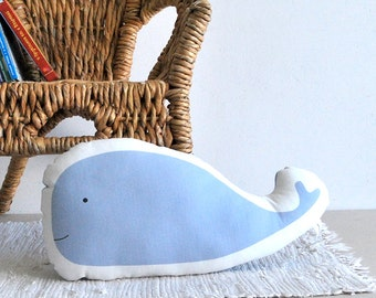 stuffed toy, Blue whale, Soft pillow, kids pillow, soft toy, baby toy, ocean, cushion, stuffed animal, Children pillow, blue kids room deco