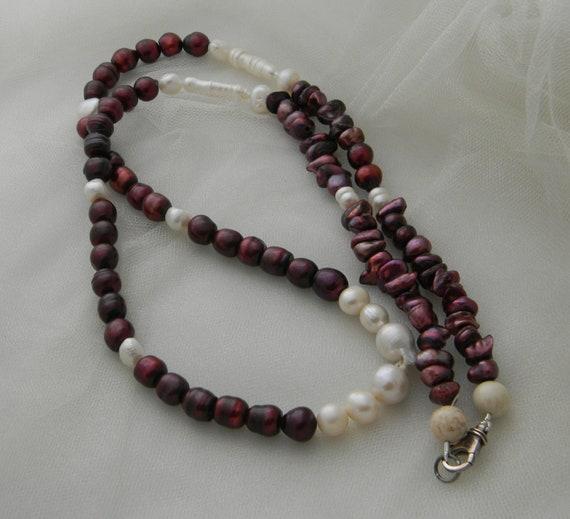 Amethyst rabbit pendant /& beads w cultured Baroque pearls necklace rabbit fertility amulet beaded jewelry amethyst necklace w pearls
