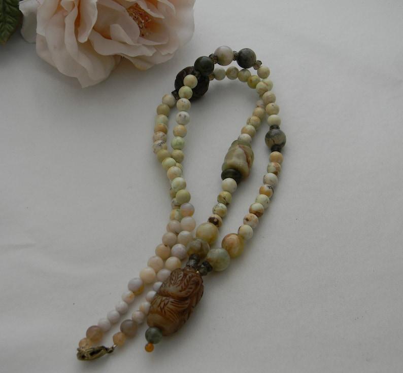 beaded jewelry long bead necklace 4 women Jade pendant w lemon chrysoprase beads /& charms necklace chrysoprase jewelry jade jewelry