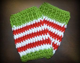 Crochet Christmas Elf Handmade Crochet Legwarmers Baby Photo Prop Custom Made