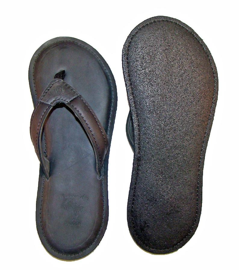 e5a4f3dc769c6 de Leon Black Flip Flops for women