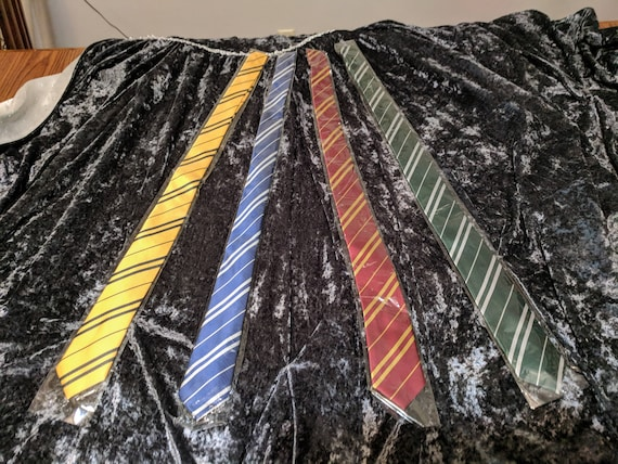 HP Themed ties - all 4 house colors