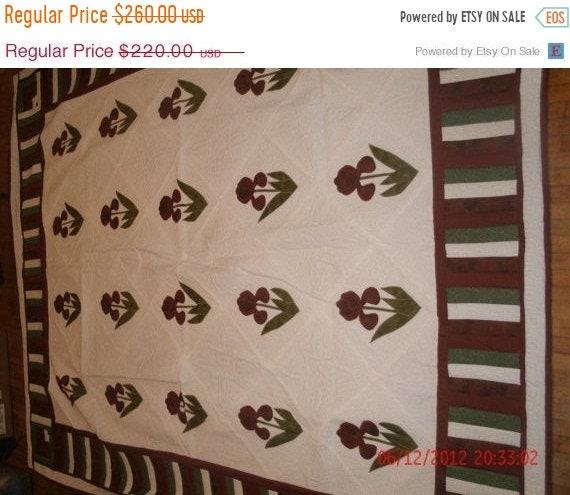 Spring Mega Blowout Twin Size Flower Quilt - Priced Reduced