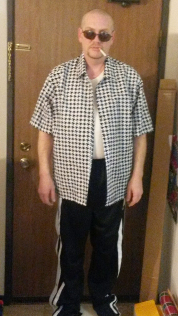 Houndstooth bowling shirt- A must have for ricky fans - any size available